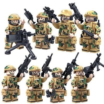 30 pcs Military Army German Soldiers Mini Figures Building Blocks Toys