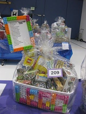 Lego Raffle Baskets - School fundraiser idea