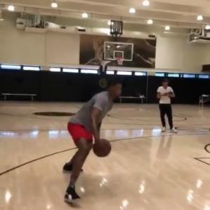 pretty nice 04f00 f1fff Video: Rudy Gay working out in the 'Puma Clyde Court Disrupt ...