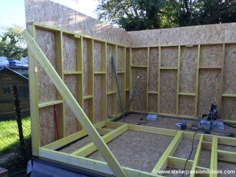 Construction Atelier Bois Part4 Avec Images Ossature Bois