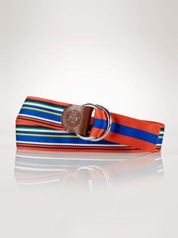 Reversible Striped Ribbon Belt Polo Ralph Lauren Belts
