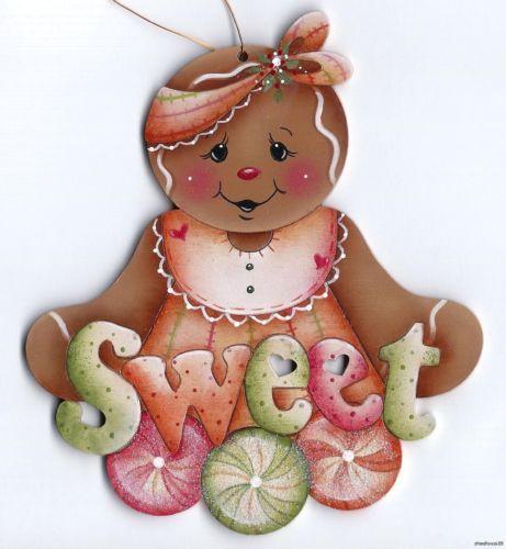 GINGERBREAD Sweet - Based on a Jamie Mills-Price design... handpainted by Pamela House