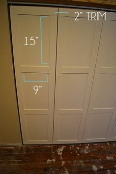 How To Make Custom Bifold Closet Doors In 2020 Custom Bifold