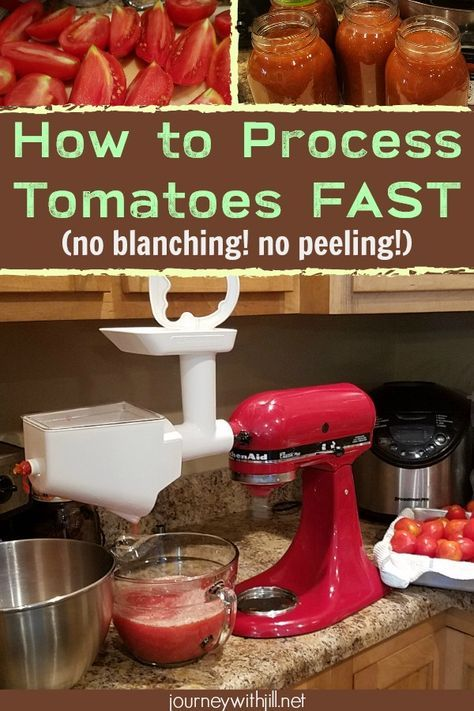 How To Use A Kitchen Aid Mixer To Prepare Tomatoes For Canning