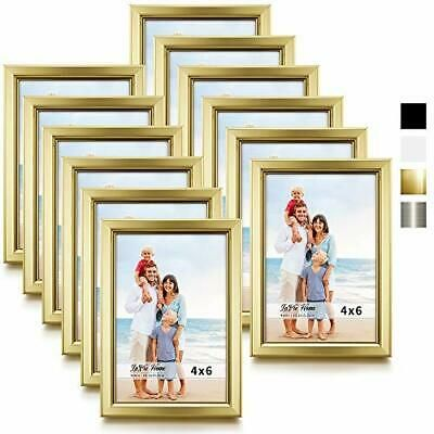 Lavie Home 4x6 Picture Frames 12 Pack Gold Simple Designed Photo 4x6 Gold Fashion Home Garden Ho In 2020 Wall Mounted Table Photo Frame Design 5x7 Picture Frames