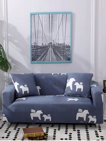 Horse Pattern Animal Print Couch Cover Couch Covers Shabby Chic Sofa Chic Sofa