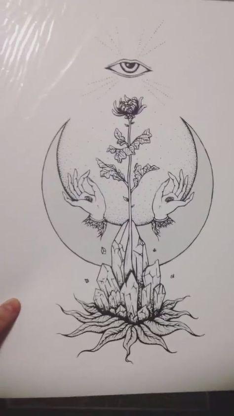 Trendy tattoo back henna sun moon ideas - Body art - Tattoo