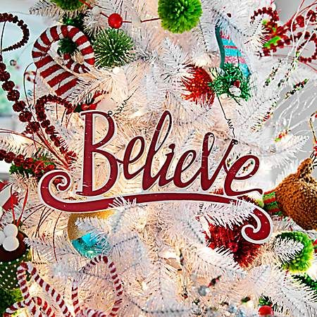 Red Believe Hanging Wall Plaque Kirklands Christmas Decorations Sale Sale Decoration Christmas Wall Decor
