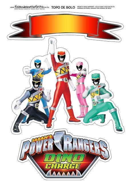 Power Rangers Free Printable Cake Toppers Power Ranger