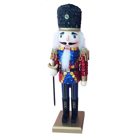 N123: 12 inch Nutcracker with Red Sequin Jacket