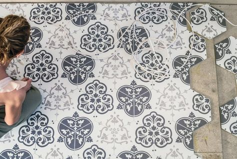 Porcelain decorative tiles in hexagonal, ethnic and geometric styles and patterns for kitchens, bathrooms and all interior walls and floors. View our range of decorative porcelain tiles and order samples online or visit our large showroom in Cirencester