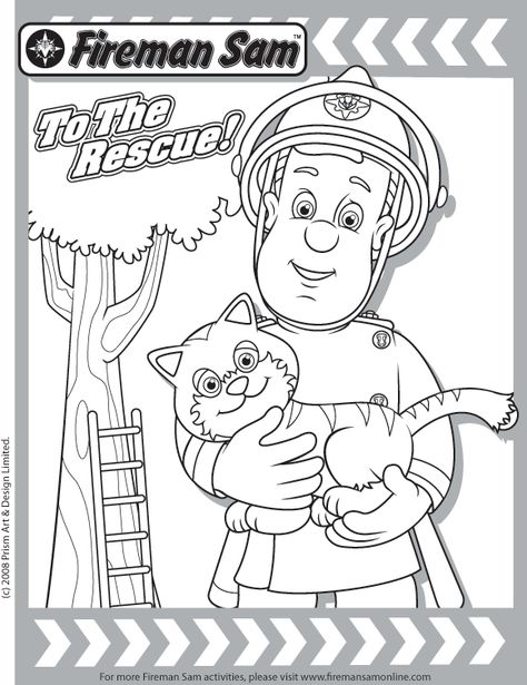 Rescue Friends DVD + Fireman Sam Coloring Page