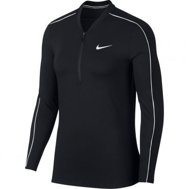 Nike Court Dri-Fit tennisshirt dames black white white white ...