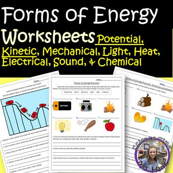 Forms Of Energy Worksheets Ready To Print Vocabulary Practice Activities Chemical Energy Energy Transformations
