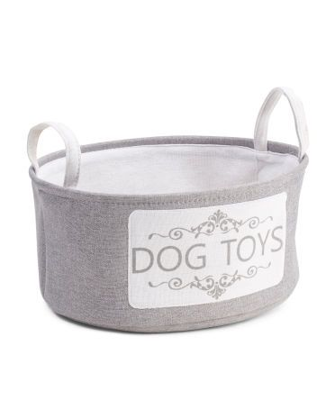 Small I Love Dog Printed Toy Basket Pet T J Maxx Dog Toy