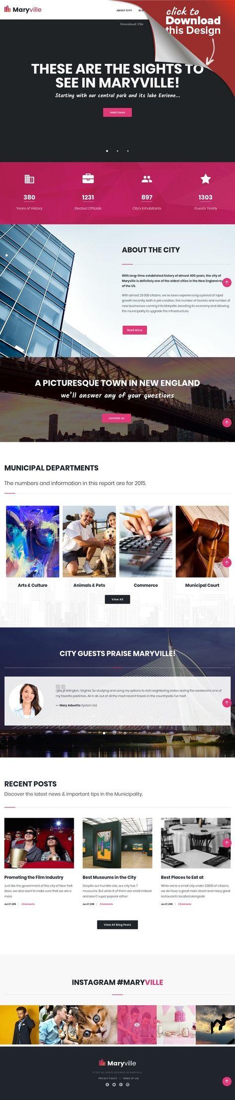 Tema de WordPress para Sitio de Portal de Ciudad