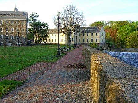 Slater Mill Museum grounds--available for rental year round: http://slatermill.org/visit/rentthemill