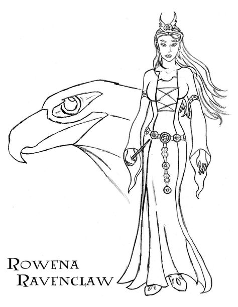 Rowena Ravenclaw Harry Potter Coloring Pages Harry Potter Drawings Harry Potter Decor