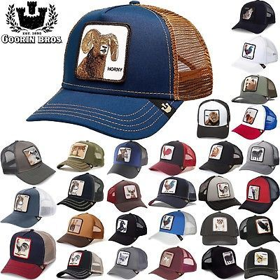 364d4e9988768 GOORIN BROS TRUCKER Hat Snapback Cat Animal Farm All American Rooster Donkey