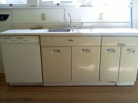 Charmant How To Refinish Metal Kitchen Cabinets | Metal Kitchen Cabinets, Metals And  Kitchens