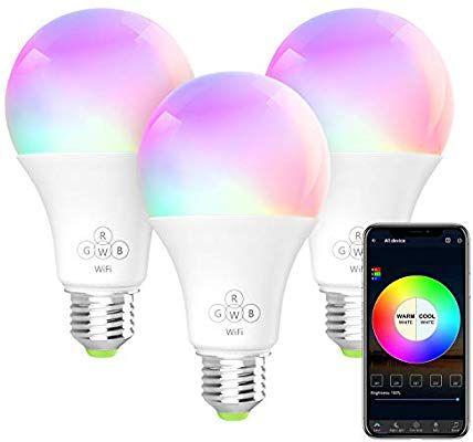 Berennis Smart Light Bulb Rgbw Wi Fi Led Bulb 6 5w 500lm