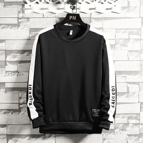 Men Patchwork Long Sleeve Hoody Sweatshirt SF – loveitbabe