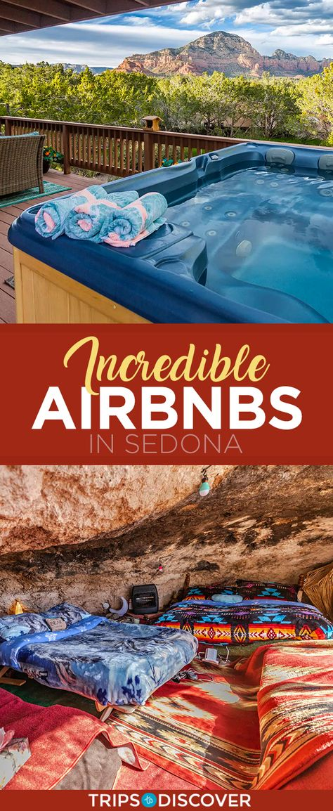 15 Incredible Airbnbs in Sedona Sedona boasts some of the most stunning landscapes in the United States. Vacation Deals, Travel Deals, Travel Usa, Train Travel, Travel Destinations, Packing Tips For Travel, Packing Lists, Travel Hacks, Travel Essentials