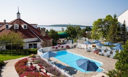 Stay At Mission Point Mackinac Island In Mackinac Island Mi Mackinac Island Lake Beach Outdoor Swimming Pool