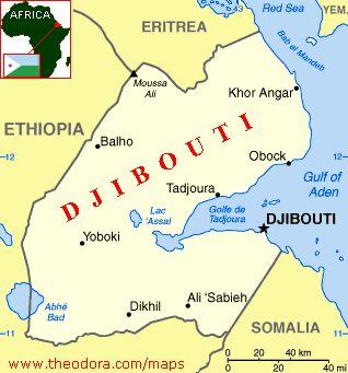 east africa map djibouti