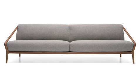 Furniture Brown Modern Couch New Awesome Grey Leather Sofas With Natural Wooden Frames For Interior In 2020 Mobel Sofa Italienische Mobel Sofa Design