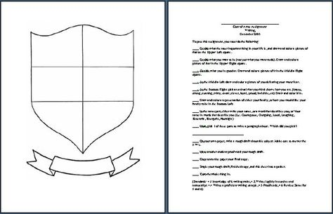 Free Printable Coat Of Arms Template  Homeschool Giveaways  Kids