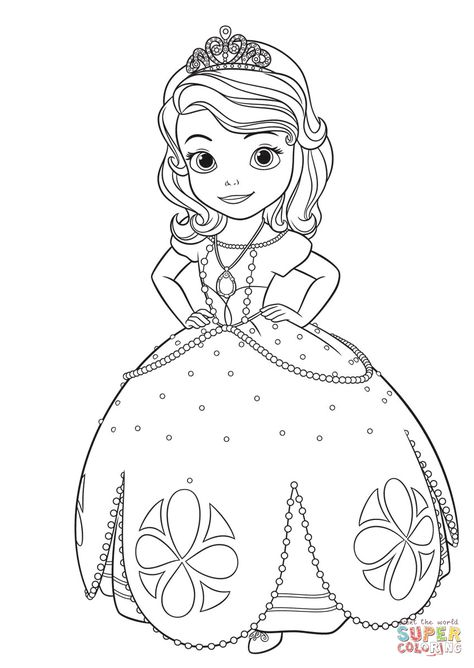 Princesa Sofia Super Coloring Boyama Sayfalari Disney