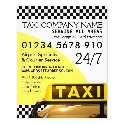 Yellow Taxi Cab Sign With Price List Advertising Flyer Zazzle Com Advertising Flyers Yellow Taxi Cab Taxi Cab