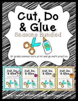 Cut, Do & Glue Seasons Bundled- Winter, Spring, Summer and Fall