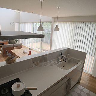 キッチン こどもと暮らす ルイスポールセン シンプルナチュラル