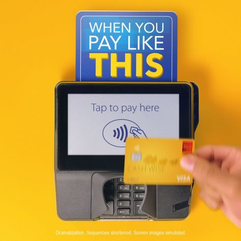 You want payment that's fast. We found a way to make it happen. Tap to pay with Visa to get what you want, fast.