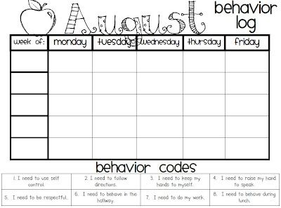 """a behavior chart thats cute to use. I like the bottom where is states what the behavior was and says """" I did or I was, I did not"""" Helps students learn they are responsible for their own behavior and choices. Also they know why they were in trouble and had consequences."""