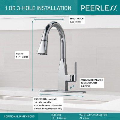 Peerless P7919lf Xander 1 5 Gpm Single Handle Pull Down Kitchen