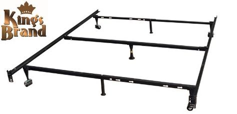 King S Brand 7 Leg Heavy Duty Adjustable Metal Bed Frame With