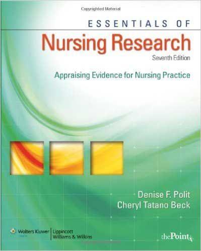 Essentials Of Nursing Research 7th Edition Polit Test