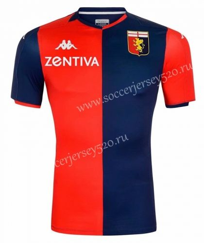 2020 2021 Genoa Cfc Home Red Blue Thailand Soccer Jersey Aaa 417 Soccer Jersey Genoa Cfc Jersey