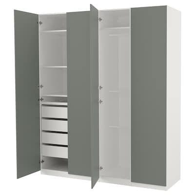 Pax Wardrobe White Grimo White 78 3 4x23 3 4x93 1 8 200x60x236 Cm Armoire Penderie Ikea Ikea Penderie Pax