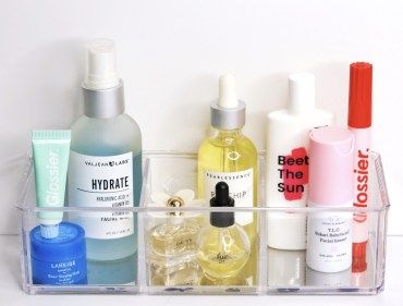 How To Organize Your Skincare Products How To Store Your Skincare Beauty Organization Tips Acrylic Orga Skin Cleanser Products Skin Care Beauty Skin Care