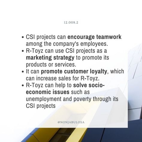 Benefits of CSR (or CSI) to the Business – Positive Impact