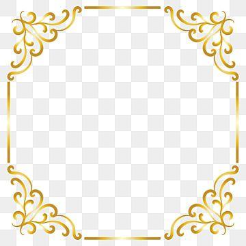 Gold Border Frame Transparent Gold Border Gold Border Png And Vector With Transparent Background For Free Download Vintage Frames Vector Frame Clipart Gold Border