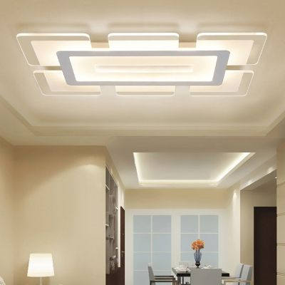Rectangular Led Flush Light Minimalist Acrylic Ultrathin Ceiling