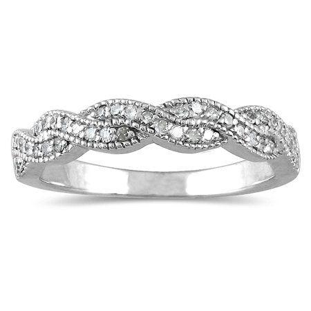 1 3 Carat Tw Braided Diamond Wedding Band In 10k White Gold J K L Color I2 I3 Clarit Braided Diamond Wedding Band Wedding Rings Vintage Diamond Wedding Bands