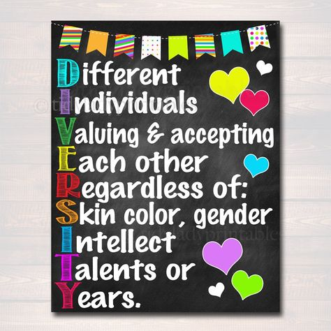 Diversity Acronym School Poster