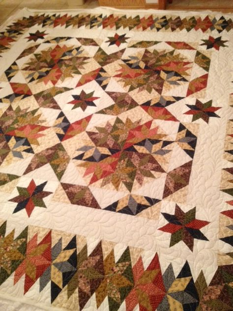 Ruby Red Embroidery and Quilting: Capistrano Quilt pieced and quilted by Ruby Valentine. Pattern by Judy Martin in her book, Stellar Quilts.