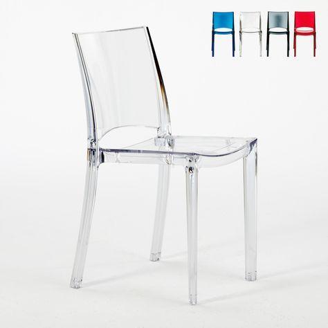 Sedie Trasparenti In Plastica.Sedie Trasparenti Cucina Bar E Ristorante Impilabile B Side Grand